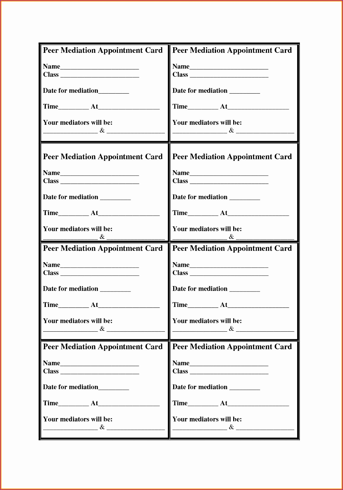 appointment cards template 11371622