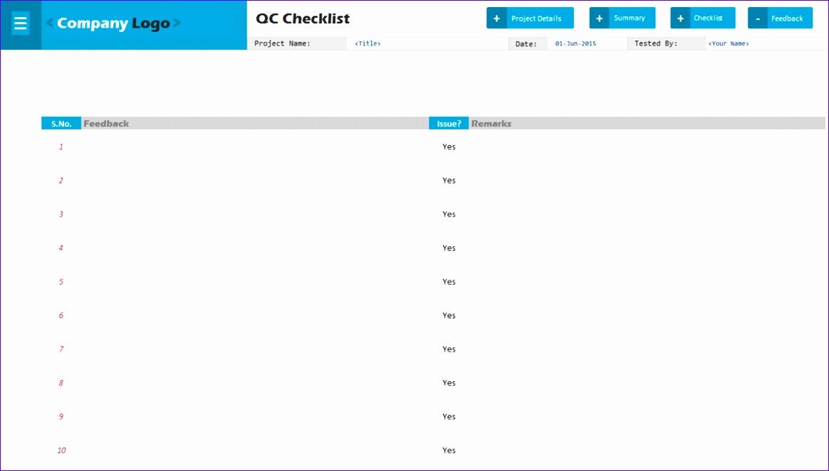 qc check list 1164662