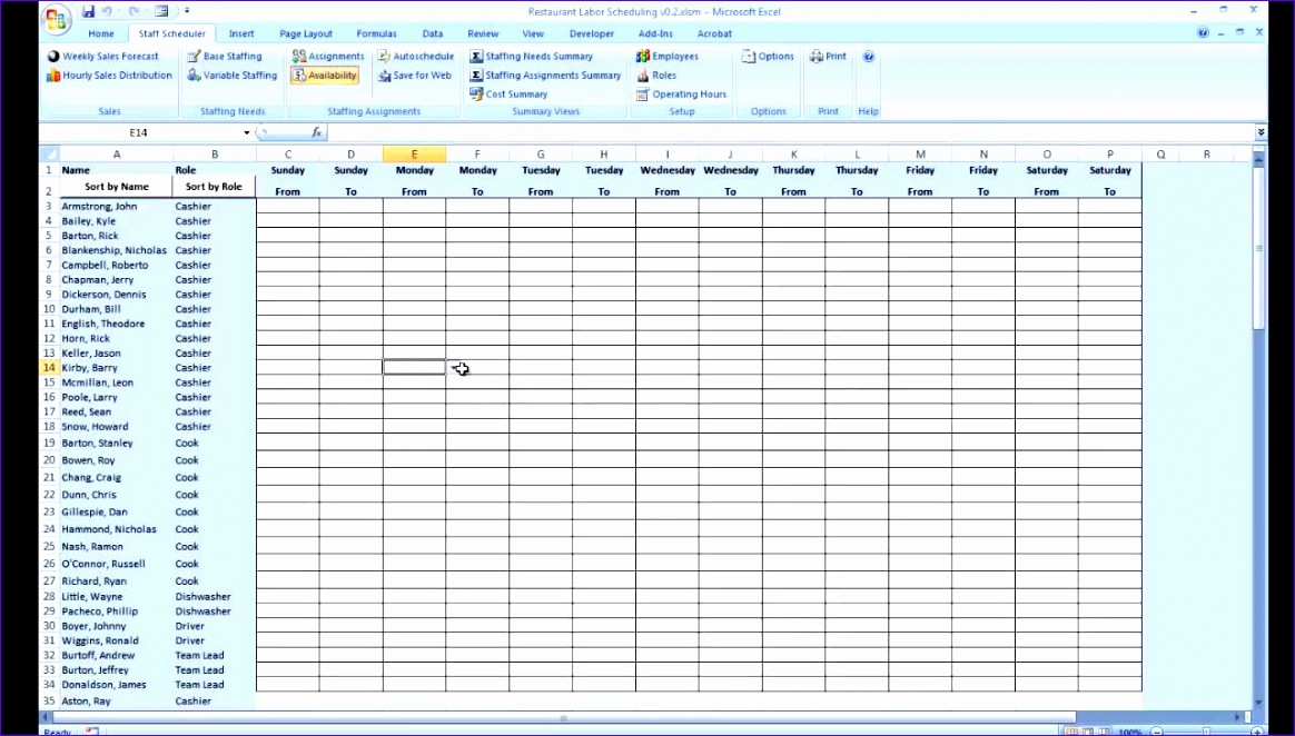6 day planner template excel - exceltemplates
