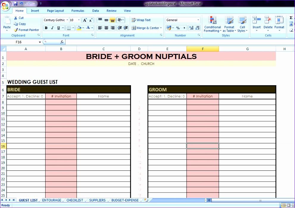 wedding checklist excel 991698