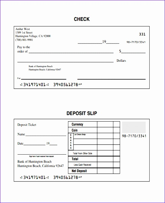 deposit slip template download