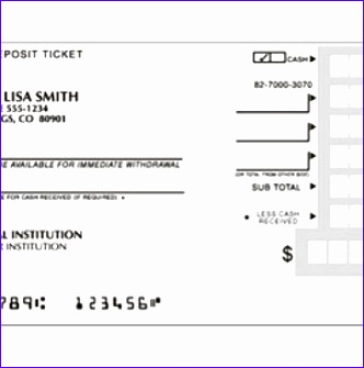 deposit ticket template 332335