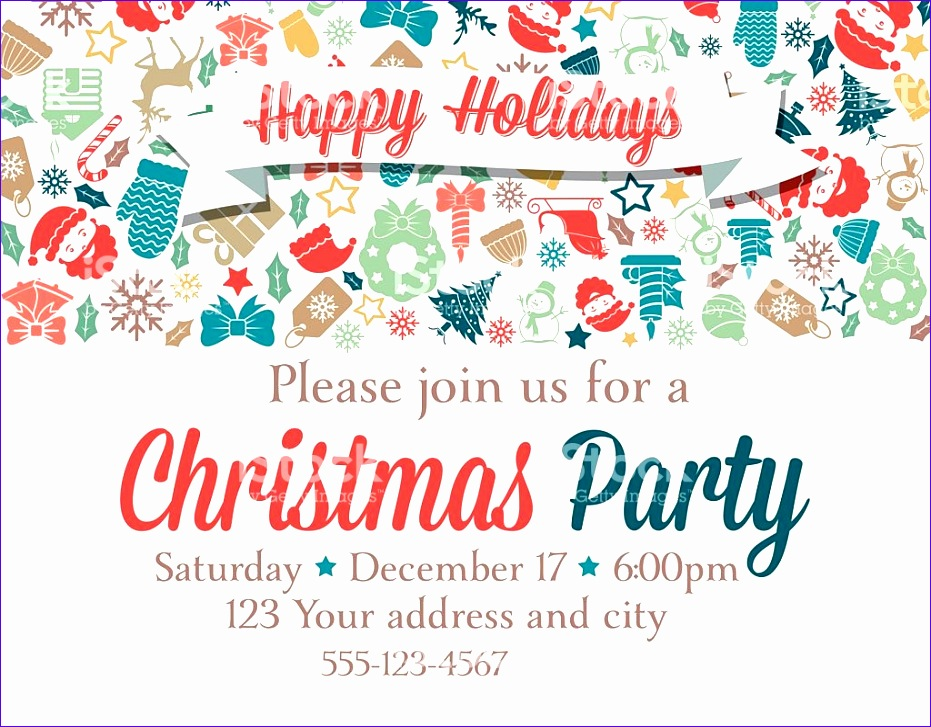 retro inspired christmas party invitation template gm