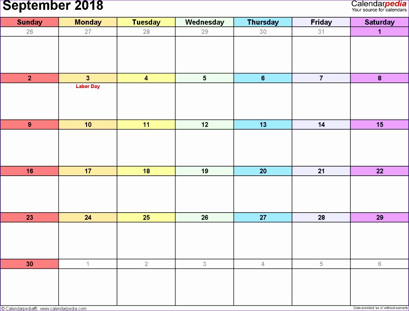 september 2018 calendar template 1255