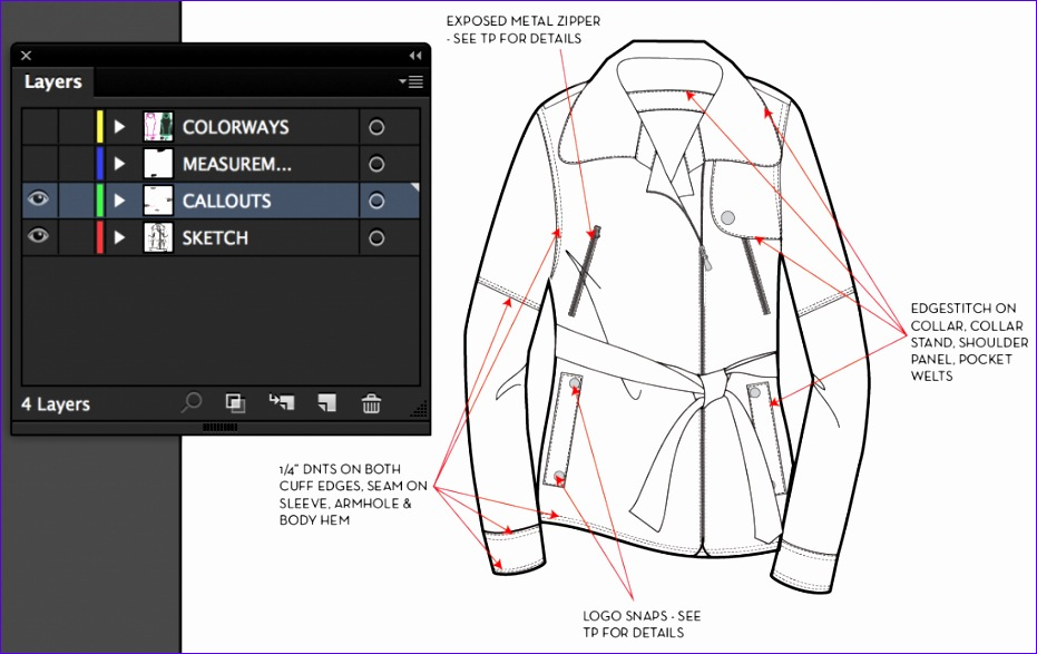 how to spec a garment in illustrator 931587