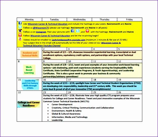 6 Editorial Calendar Template Excel Exceltemplates Exceltemplates