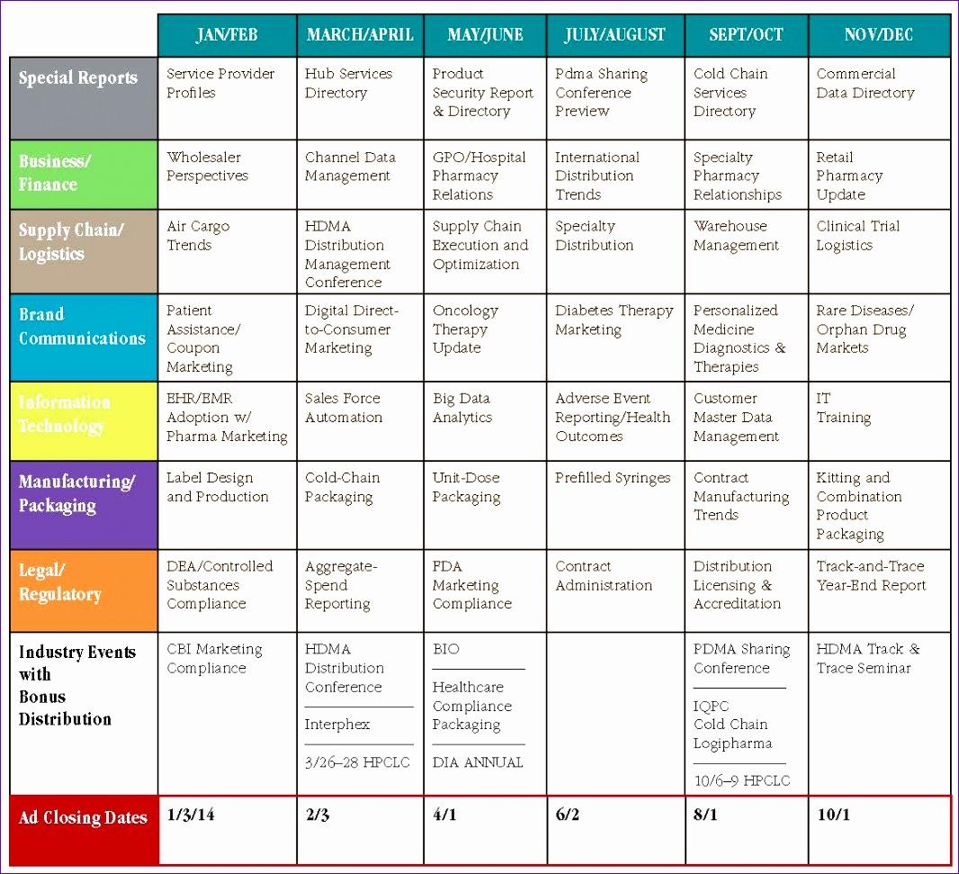 6 Editorial Calendar Template Excel - Excel Templates ...