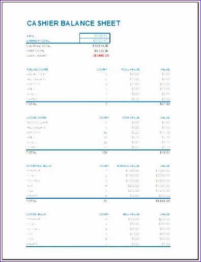 cash drawer reconciliation sheet 395514