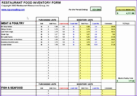 7 restaurant inventory spreadsheet 455321
