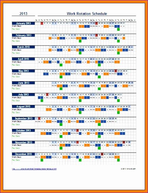 5 employee schedule template excel 503653