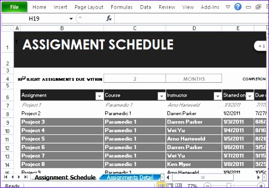 free schedule templates for excel 527368