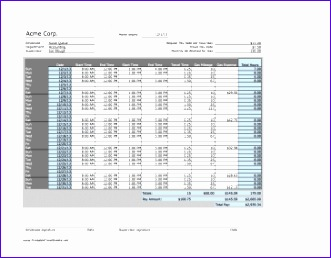 Monthly Timesheet with Mileage monthly break horizontal 331258