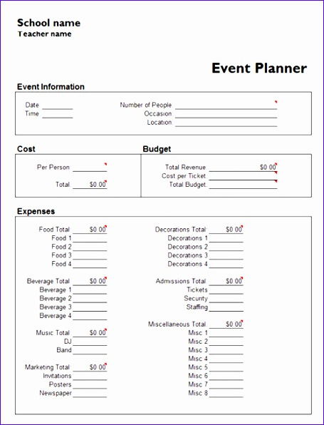 Event Checklist Template Excel  Exceltemplates  Exceltemplates
