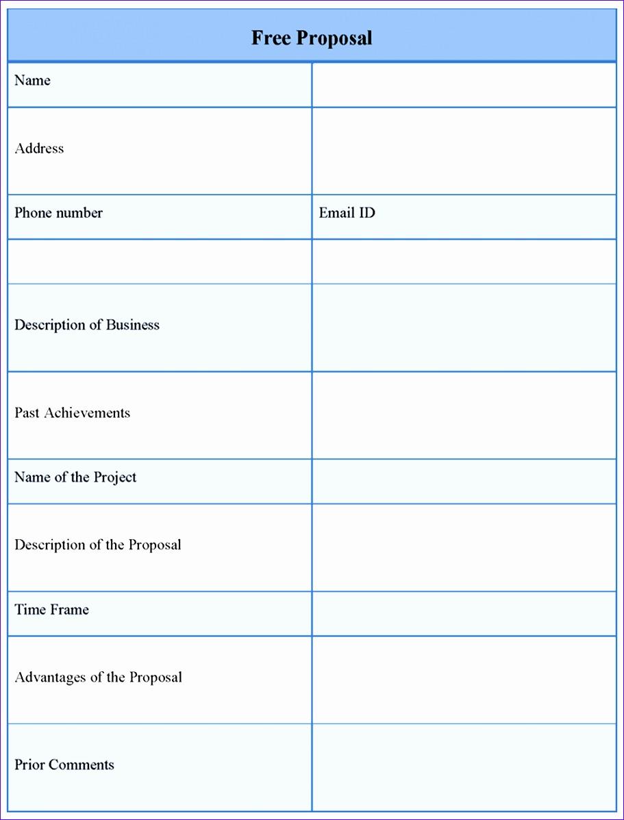 8 proposal template free