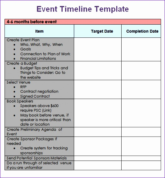 event timeline template excel 667 532572