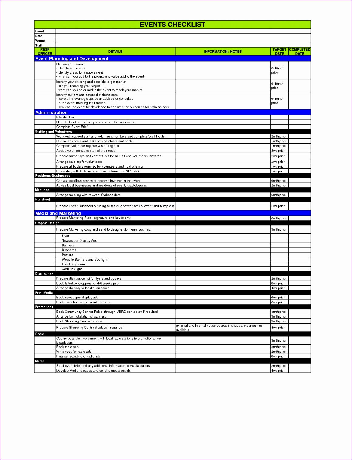 6 event Planning Template Excel - ExcelTemplates - ExcelTemplates