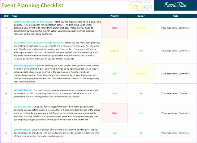 event planning checklist excel 637464