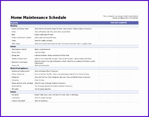 Home maintenance schedule 500391