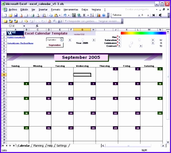 Excel Calendar Template is also patible with 546489