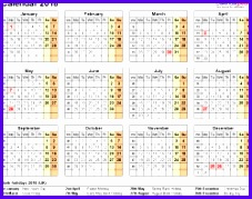 Template 9 Yearly calendar 2018 as Excel template year at a glance 1 227179