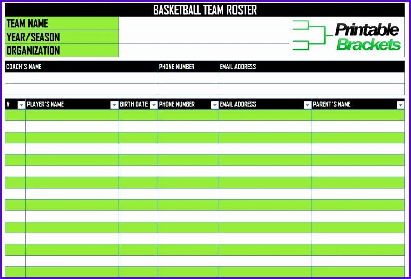 12 baseball lineup excel template