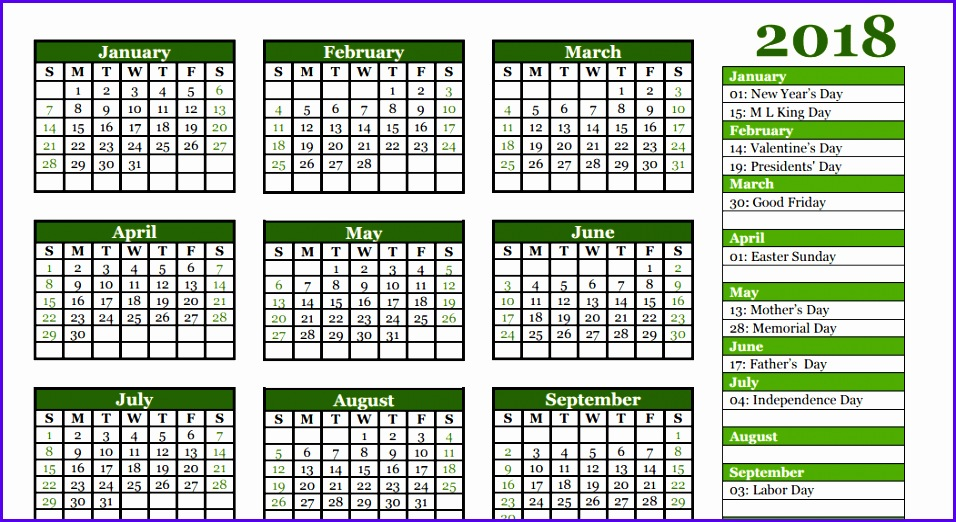 Example Calendar Excel Template 2018 Jkfiv Elegant Free 2018 Yearly