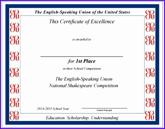 Certificate Excellence Template image 527414