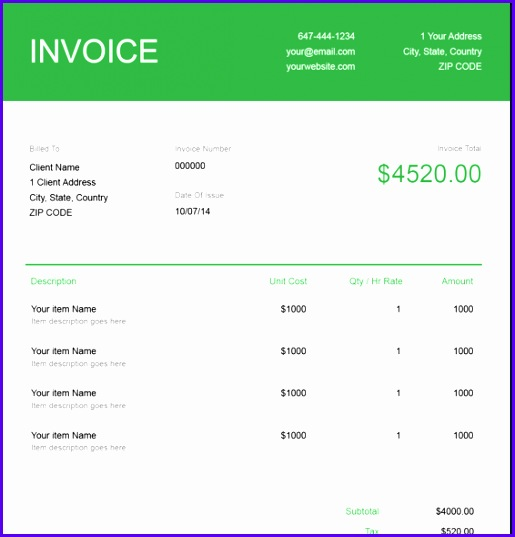 Download a IT Consulting Invoice Template 515537