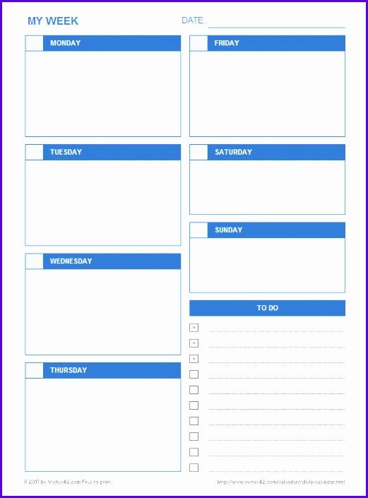 Daily Calendar Template 521705