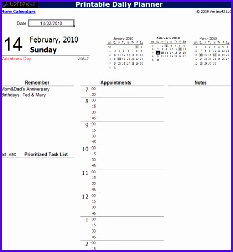 daily calendar 2017 excel 455492