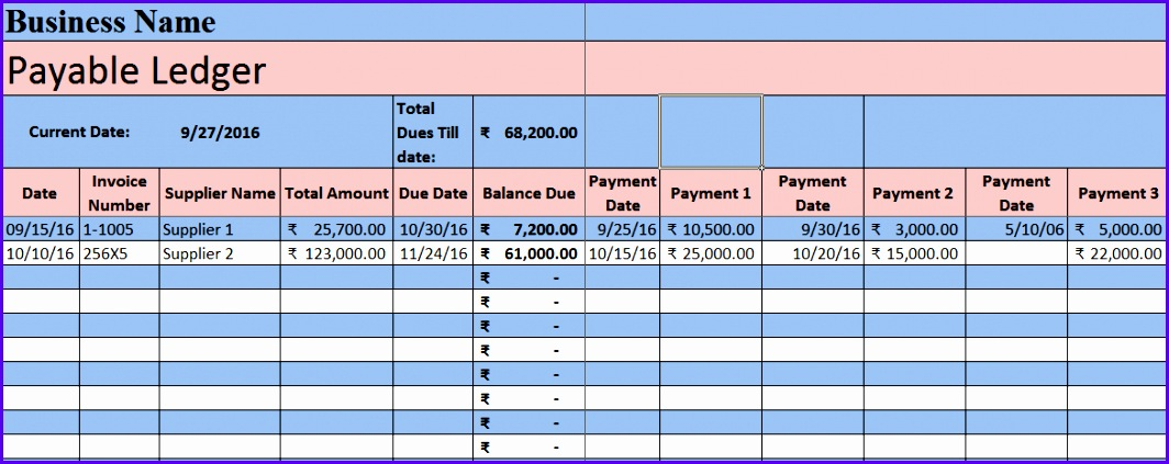 Download Accounts Payable Excel Template 1064423