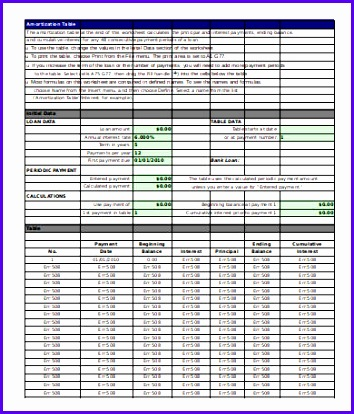 7 Loan Amortization Schedule Template 7 Free Excel Pdf