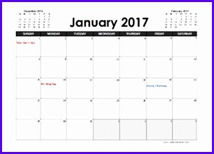 Monthly 2017 Calendar Canada Templates 2017 Calendar Planner Canada stat holidays