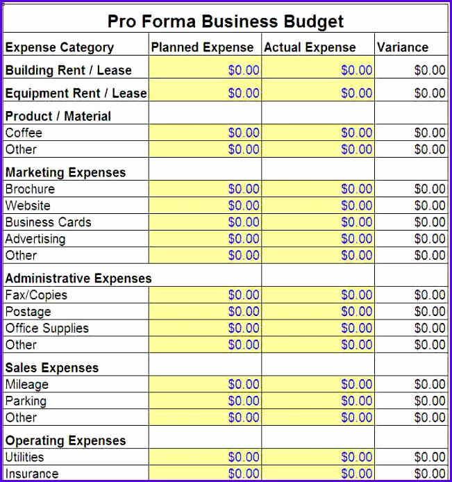 excel business bud template 2 651694