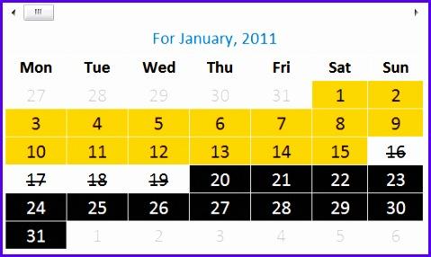 Shift Calendar Template – FREE Download 479286