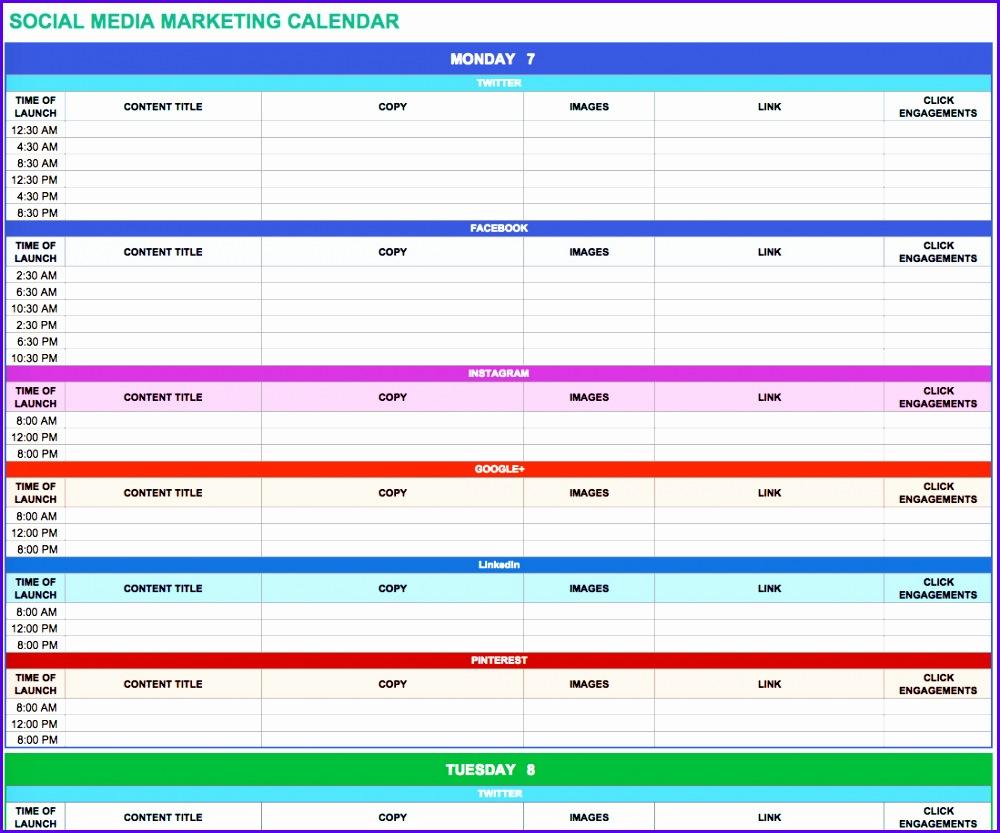 Social Media Marketing Calendar 1000833