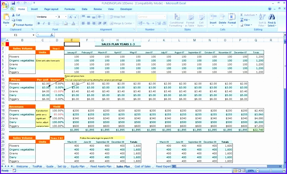 Excel Funding Plan 3 Free Download Business Financial Template Pd 953578