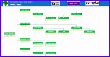 Automatic Family Tree Maker Excel Template Someka 1 Previous Next 354184