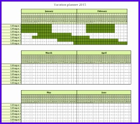 Vacation planner 2015 Excel template – free to 273242