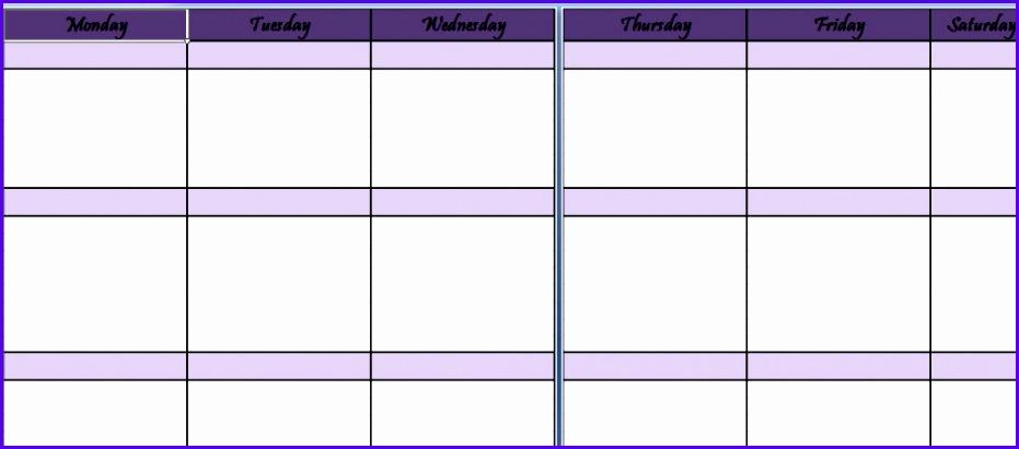 Weekly Schedule Planner Template 931411