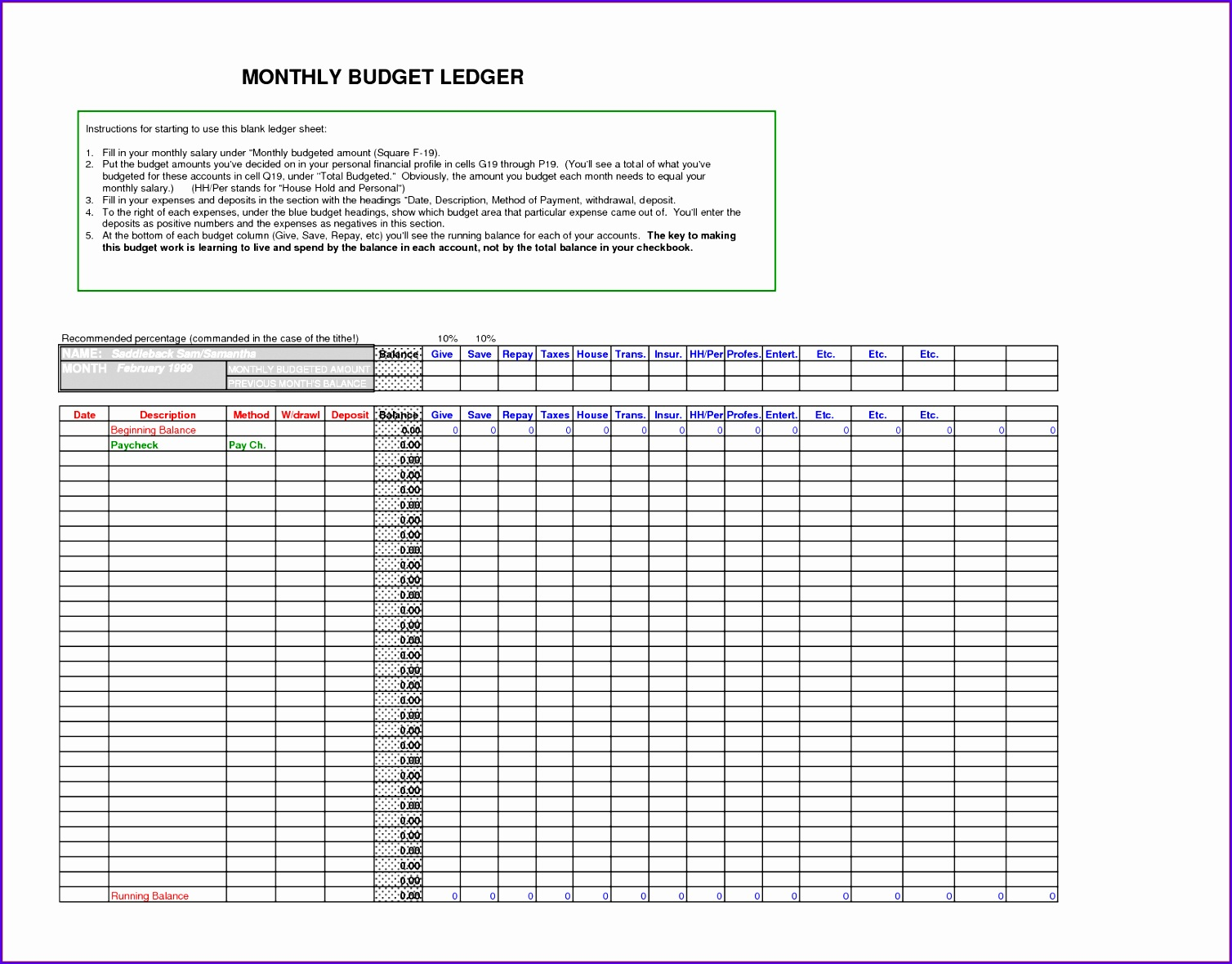 9 accounting ledger excel template 15081180