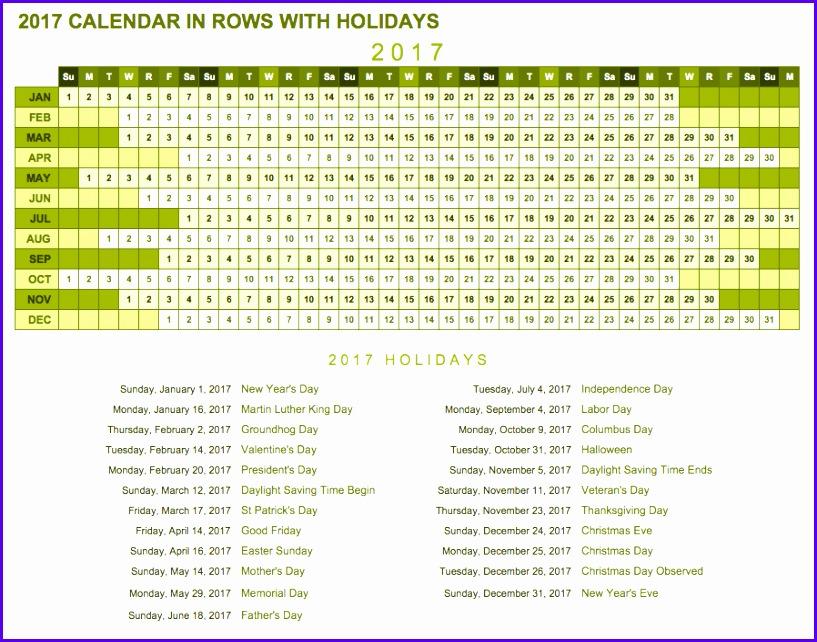 Free Excel Calendar Templates 817642