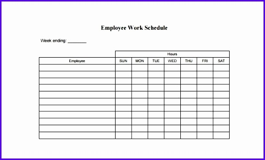 Employee Schedule Template 5 Free Word Excel PDF Documents 532322
