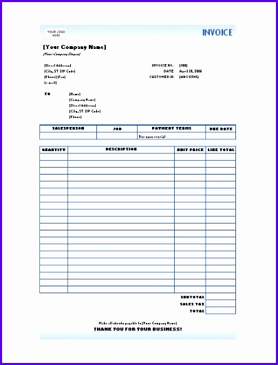 Download Free Excel Invoice Templates 404529