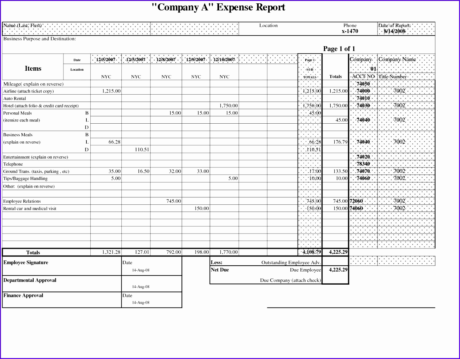 Credit Card Expense Report Form Pany Credit Card Expense Report Template  Free Credit Card Expense Report  Expense Report Example