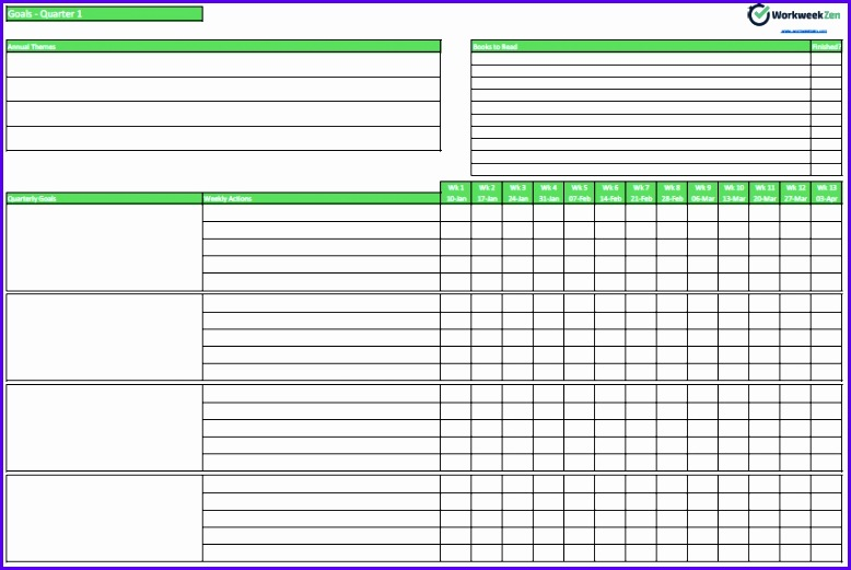 Example Goals Template Excel Cfoio Unique Weekly Goal Setting