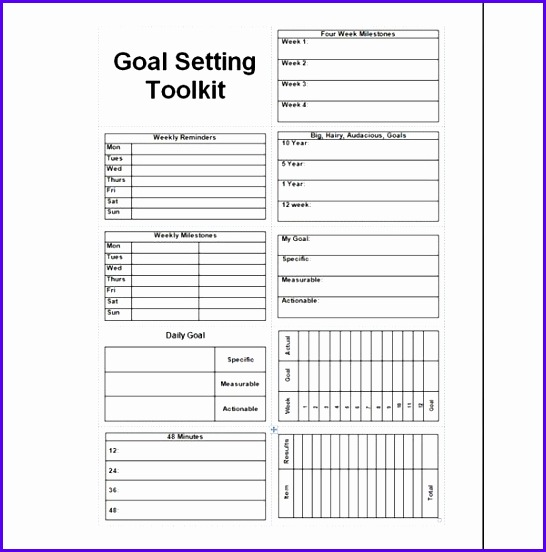 Goals Template Excel  Exceltemplates  Exceltemplates