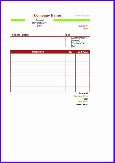 graphy Invoice Template