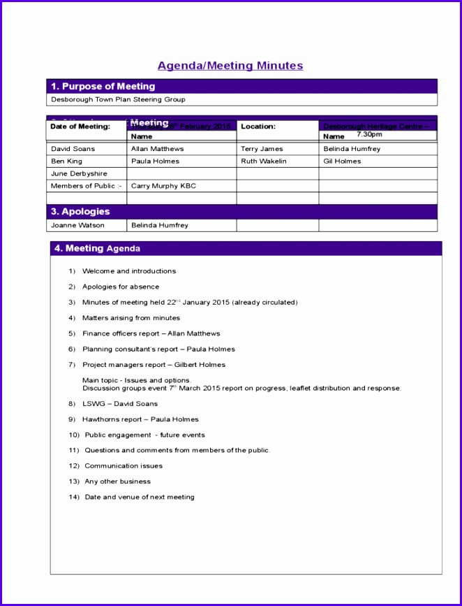 project meeting minutes template sample l1 662867