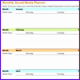 Monthly Social Media Planner 273273